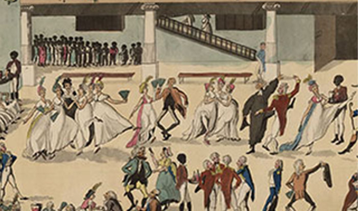 painting of dance hall