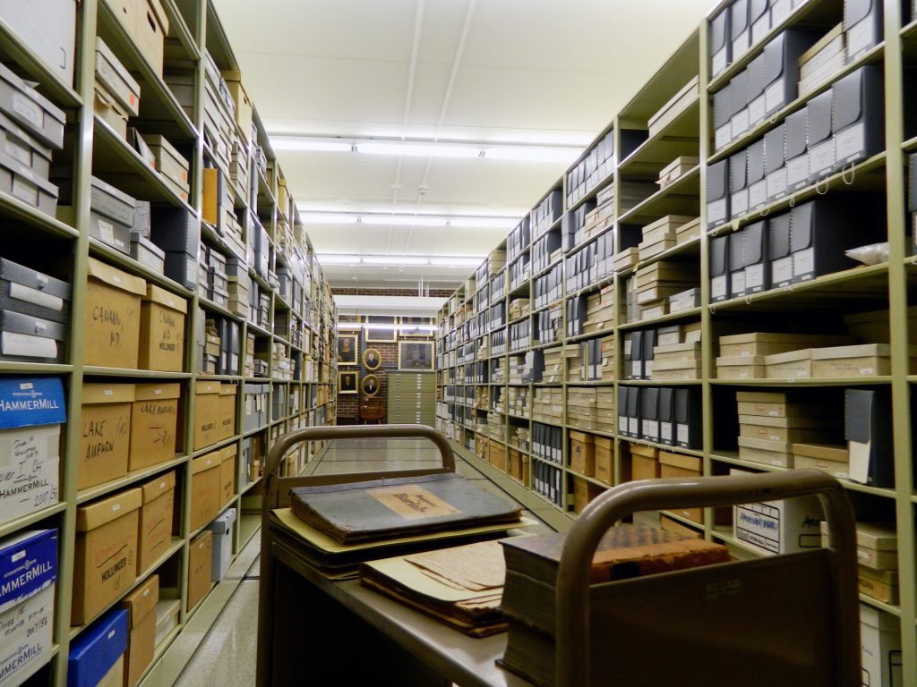 Picture of vault at the Moravian Archives, Bethlehem