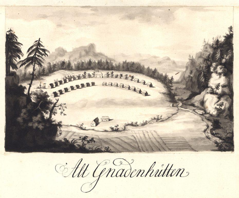View of Gnadenhutten I, Mp.205.5, UA Herrnhut
